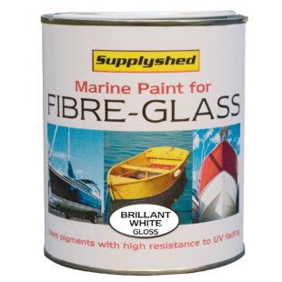 Marine gloss fibreglass boat paint, GRP, Gelcoat -750ml / 1 litre
